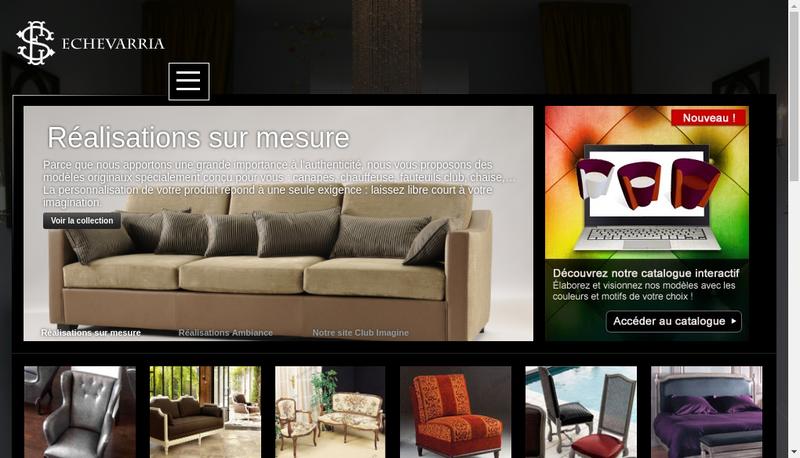Capture d'écran du site de Ets Echevarria Sieges de Styles