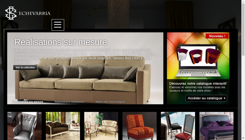 Capture d'écran du site de Etablissements Echevarria Sieges de Styles