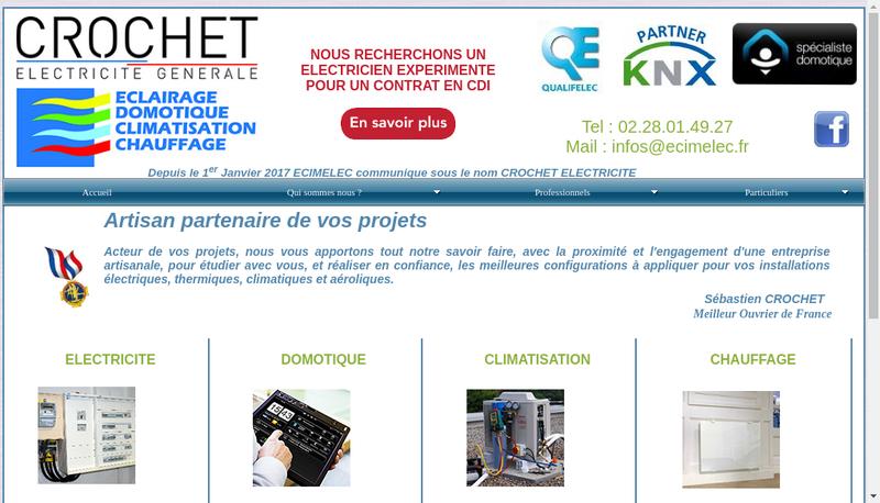 Capture d'écran du site de Ecimelec
