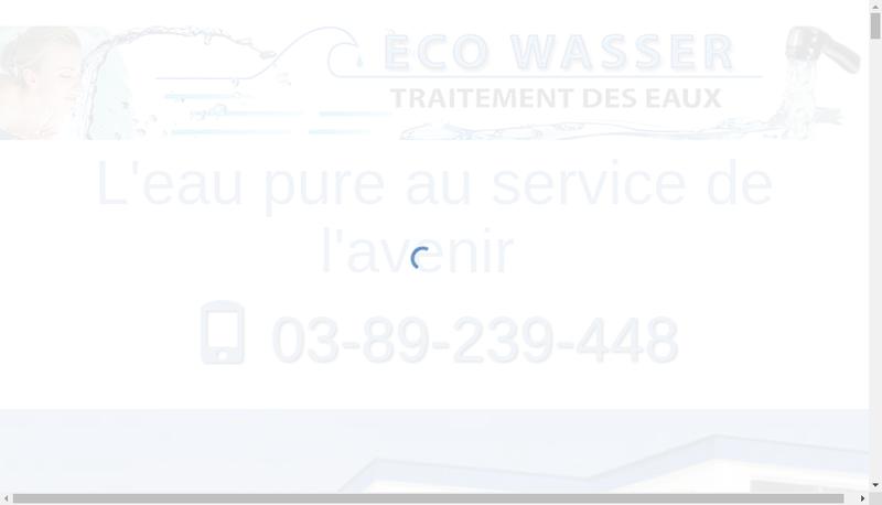 Capture d'écran du site de Ecowasser