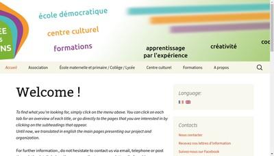 Site internet de Ecole de la Croisee des Chemins
