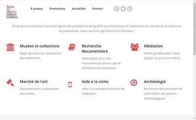 Site internet de Ecole du Louvre Junior Conseil