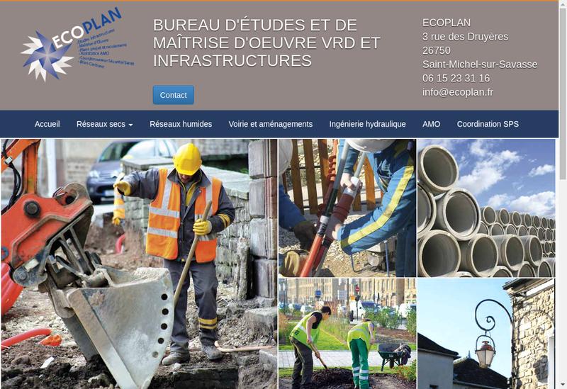 Capture d'écran du site de Ecoplan