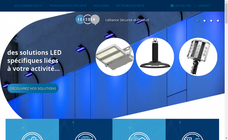 Capture d'écran du site de Ecosqen