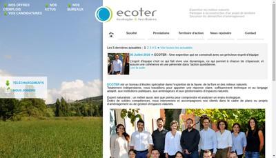Site internet de Ecoter