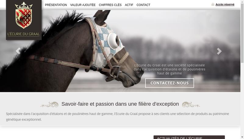 Capture d'écran du site de Ecurie du Graal