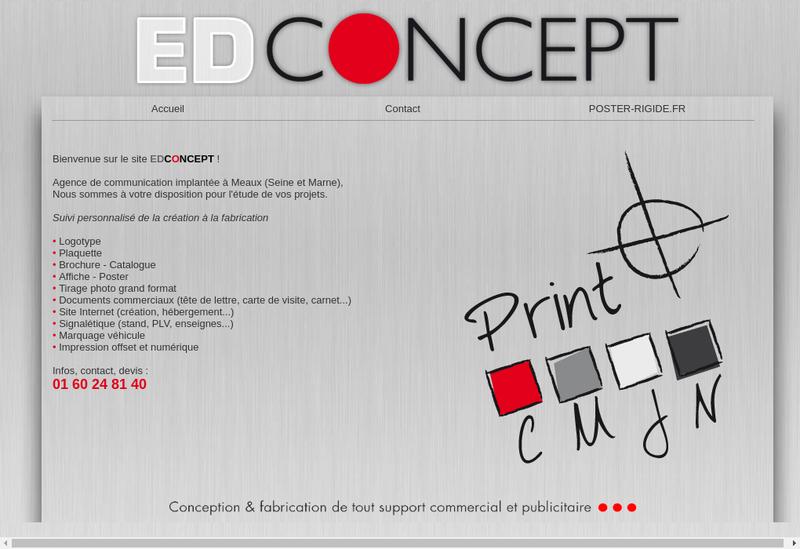 Capture d'écran du site de Ed Concept