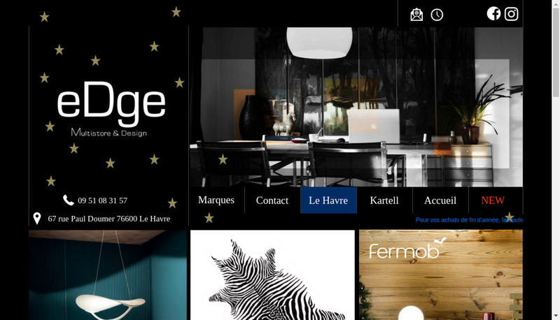Capture d'écran du site de EDGE