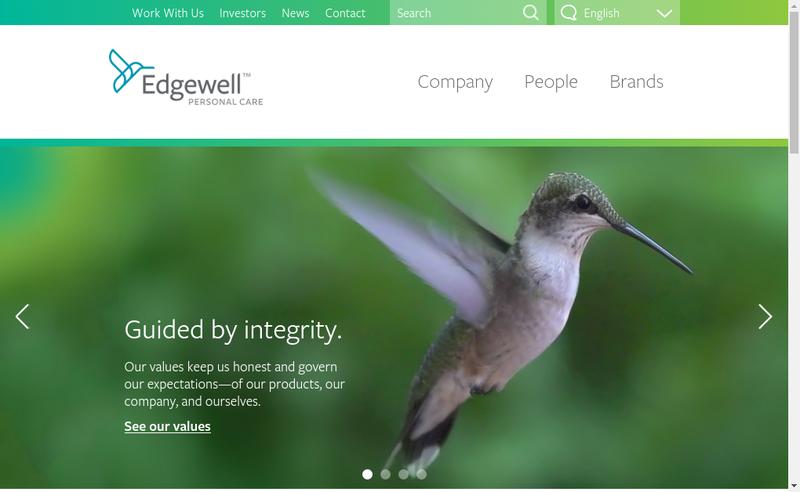 Capture d'écran du site de Energizer