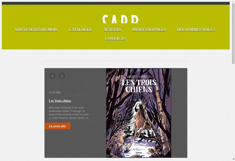 Capture d'écran du site de Sarbacane Creation
