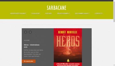 Site internet de Sarbacane Creation