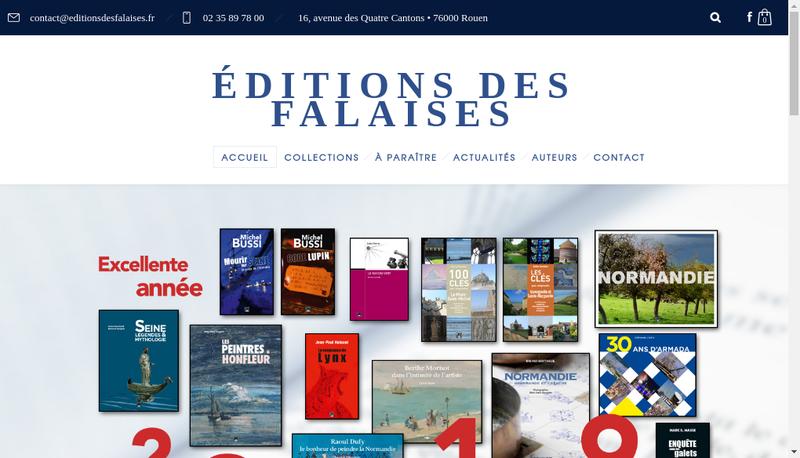 Capture d'écran du site de Editions des Falaises