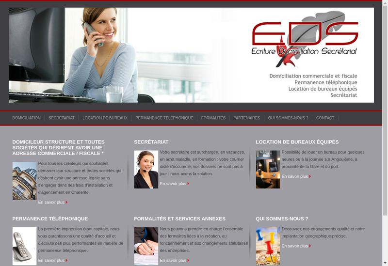 Capture d'écran du site de EDS SARL