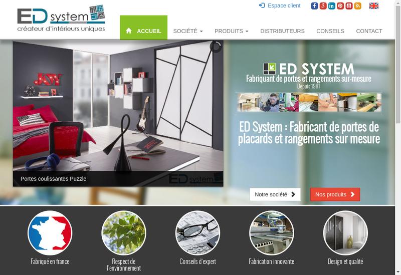 Capture d'écran du site de Espace Deco