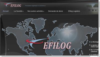 Capture d'écran du site de Efilog