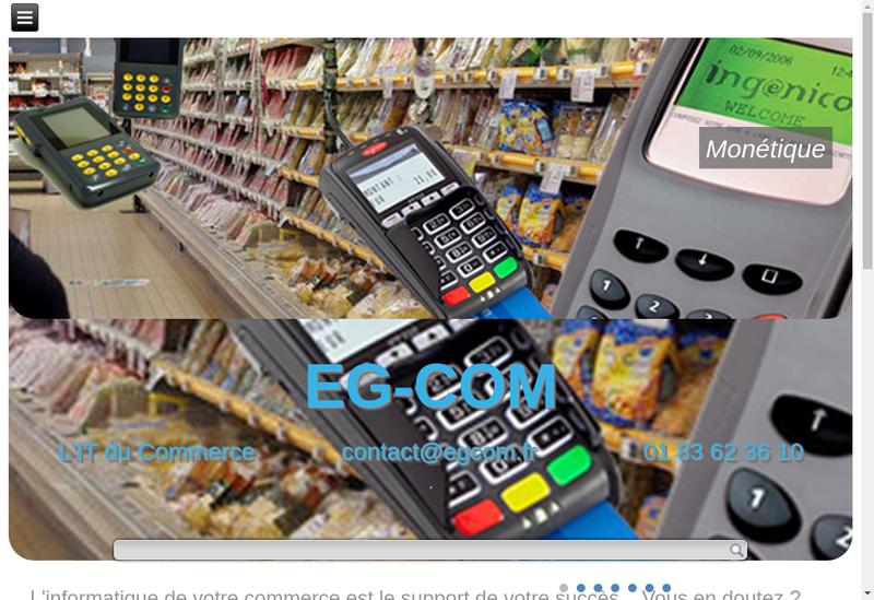 Capture d'écran du site de Eg Com