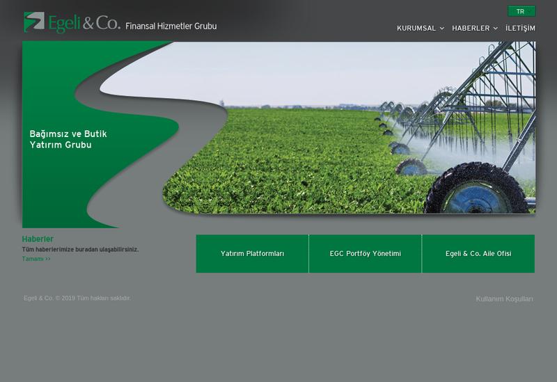 Capture d'écran du site de Egeli