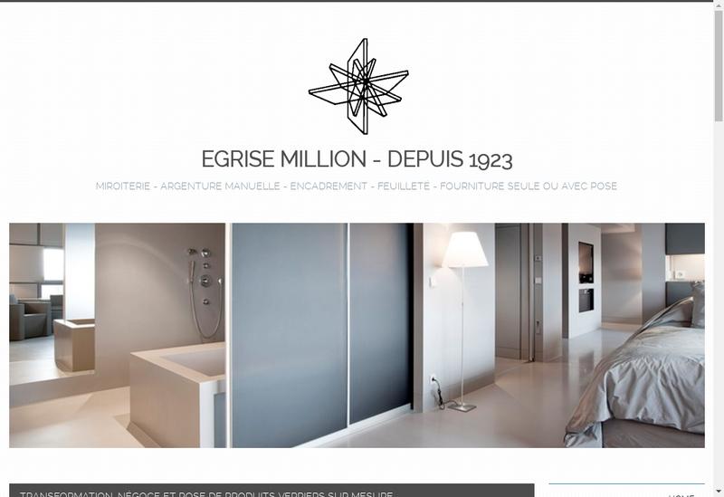 Capture d'écran du site de Egrise Million