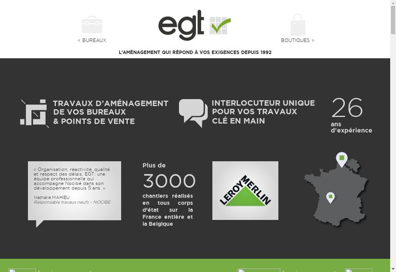 Capture d'écran du site de EGT