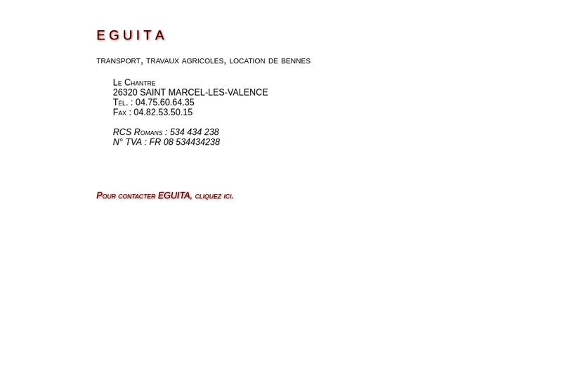 Capture d'écran du site de Eguita