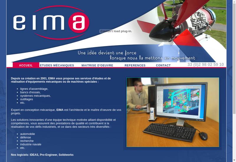Capture d'écran du site de EIMA