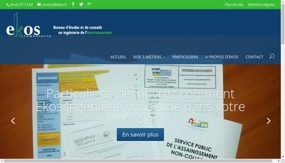 Site internet de Ekos Ingenierie