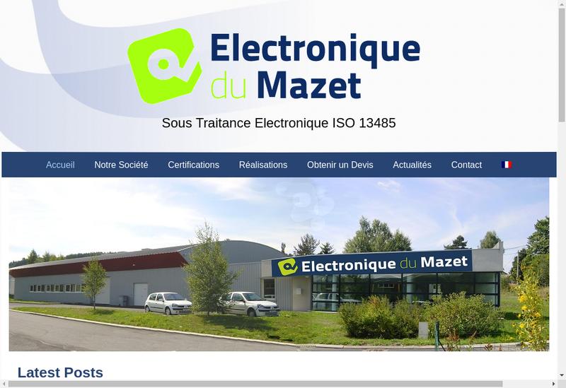 Capture d'écran du site de Electronique du Mazet