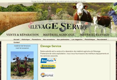 Capture d'écran du site de Elevage Service