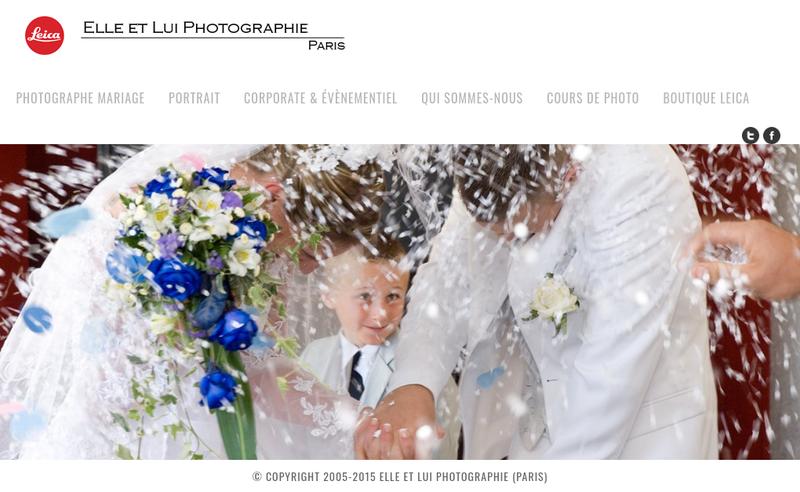 Capture d'écran du site de Elle et Lui Photographie