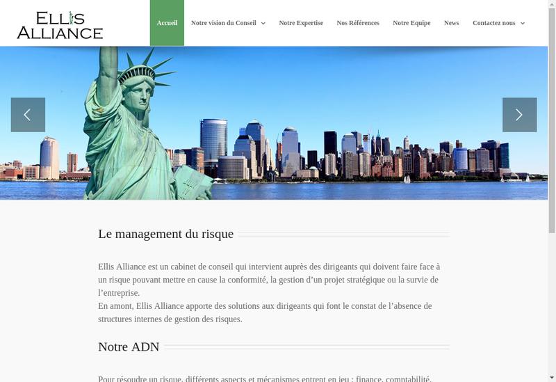 Capture d'écran du site de Ellis Alliance