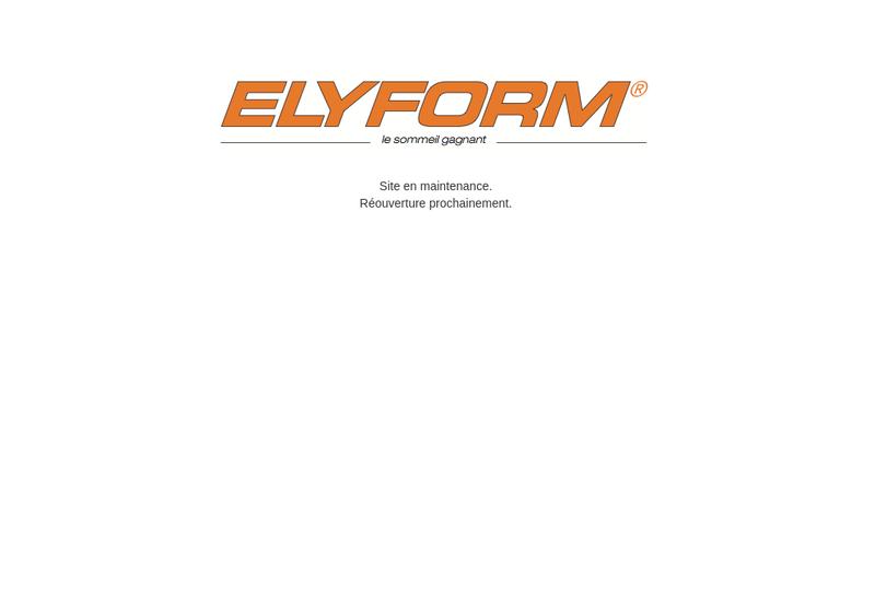 Capture d'écran du site de Elyform