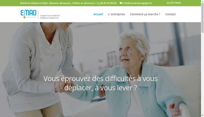 Capture d'écran du site de L'Expertise Medicale a Domicile