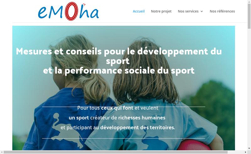 Capture d'écran du site de + Sport Conseil