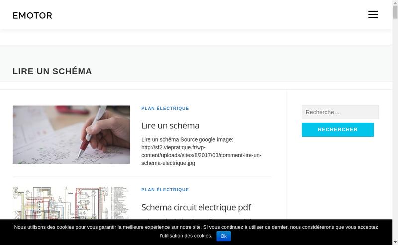Capture d'écran du site de E Motor