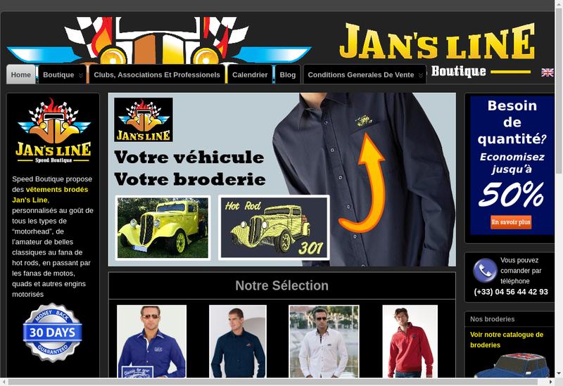 Capture d'écran du site de Jan S SAS