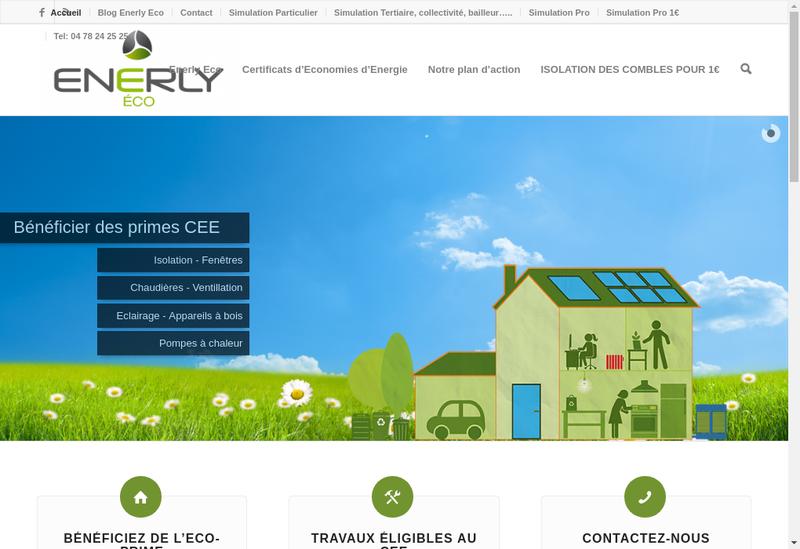 Capture d'écran du site de Enerly Eco