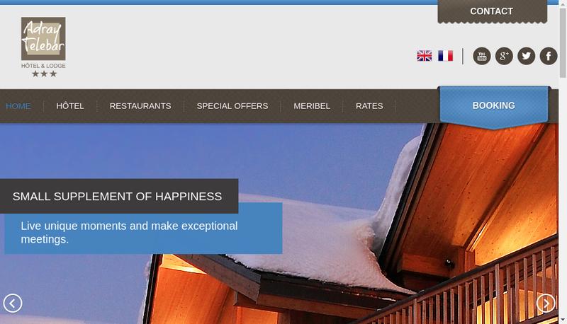 Capture d'écran du site de Maison de Zoe