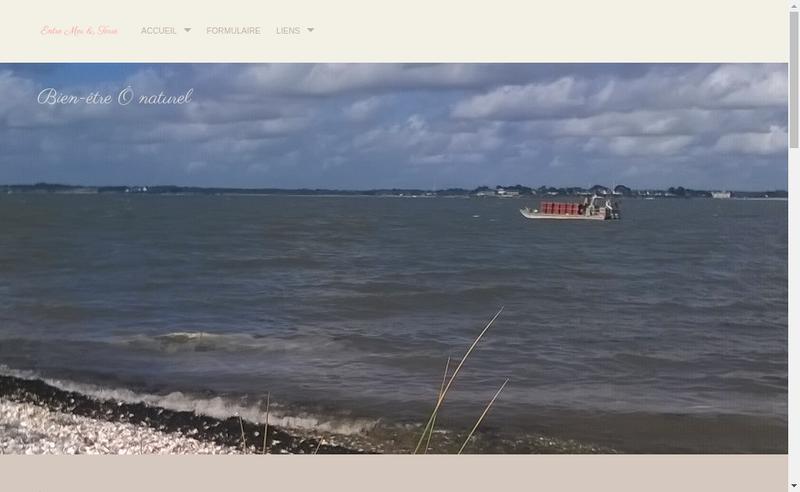 Capture d'écran du site de Entre Mer et Terre