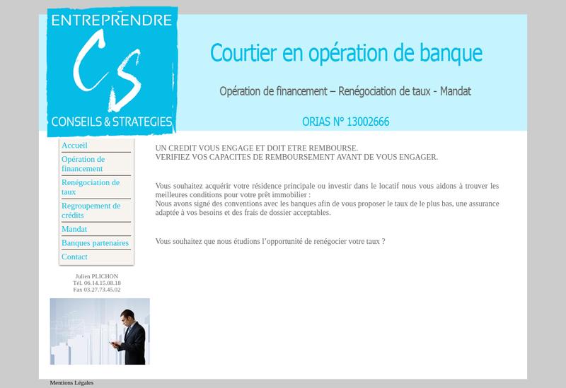 Capture d'écran du site de Entreprendre Conseils et Strategies