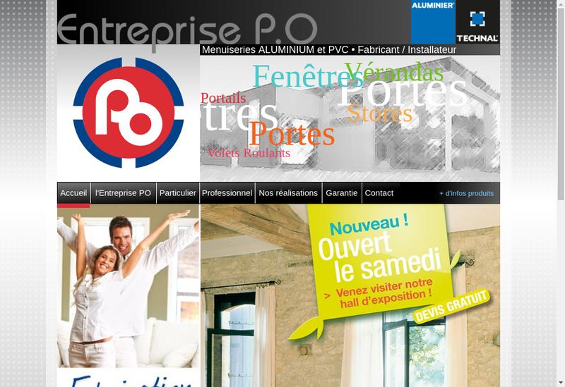 Capture d'écran du site de Entreprise PO