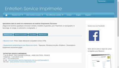 Capture d'écran du site de Entretien Service Imprimerie