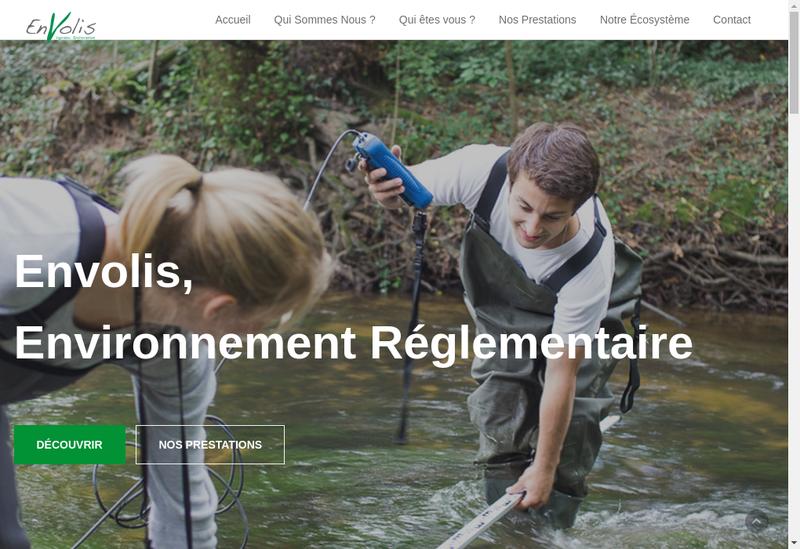 Capture d'écran du site de Envolis