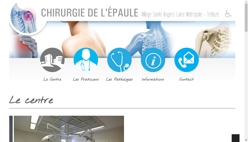 Capture d'écran du site de Clinique Saint Leonard
