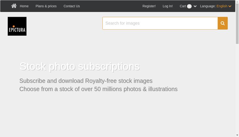 Capture d'écran du site de Epictura