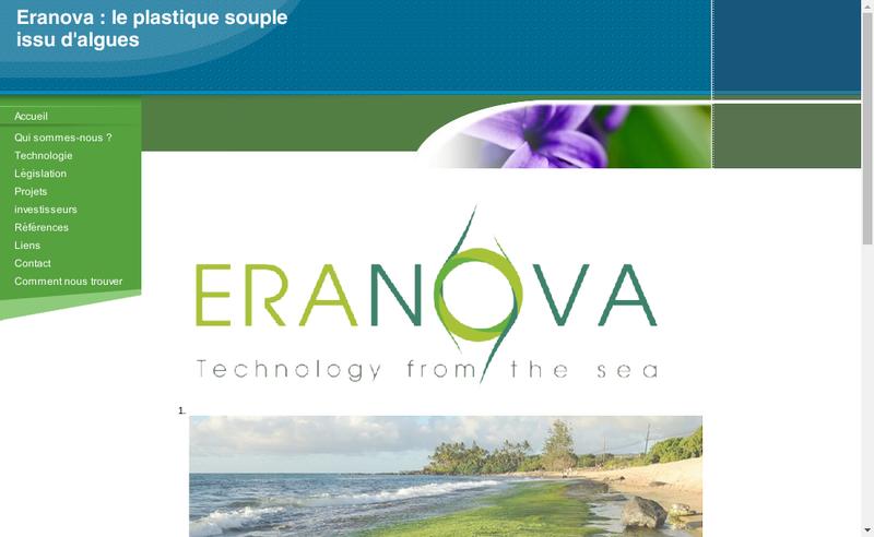 Capture d'écran du site de Eranova