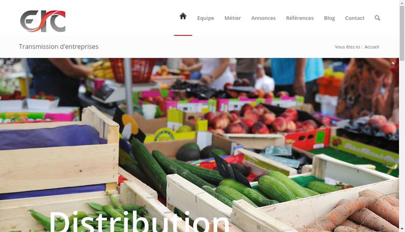 Capture d'écran du site de ERC
