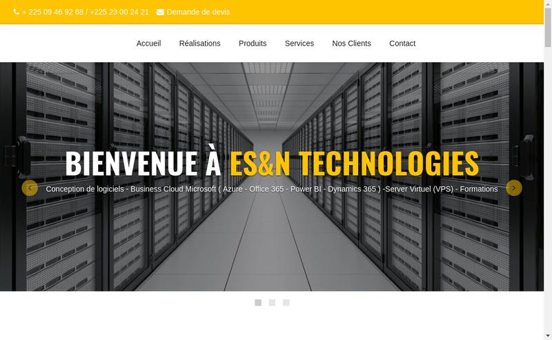 Capture d'écran du site de N'Technologies