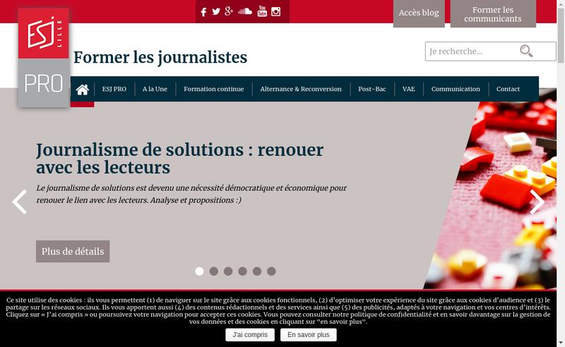 Capture d'écran du site de Esj Pro