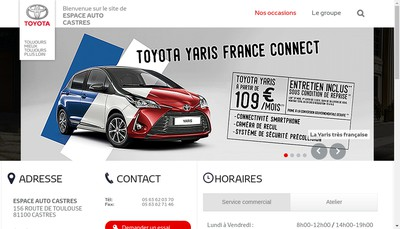 Site internet de Espace Auto