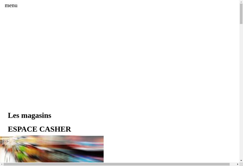 Capture d'écran du site de Fb Espace Casher